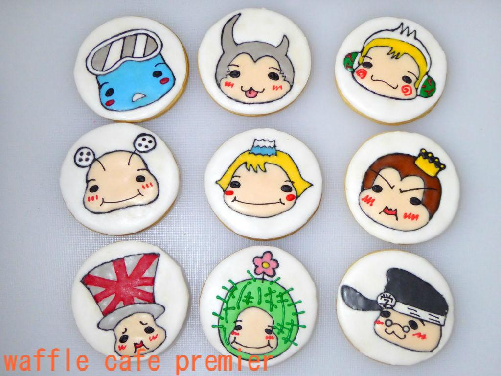 オーダークッキー☆平成ジャンプ ロゴ&9ぷぅ  wafflecafe