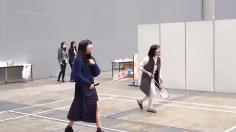 "SKE48太田彩夏と後藤楽々の""ガチミントン"""