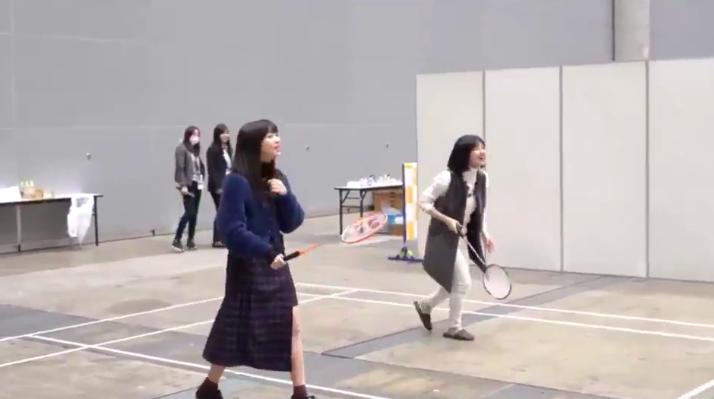 "SKE48太田彩夏と後藤楽々の""ガチミントン"" 他"