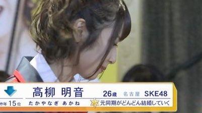 SKE48高柳明音がフジテレビで放送された総選挙の紹介文に「なんなんw」