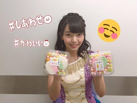 SKE48高畑結希が香川名物のおいりを楽屋に差し入れ!!!