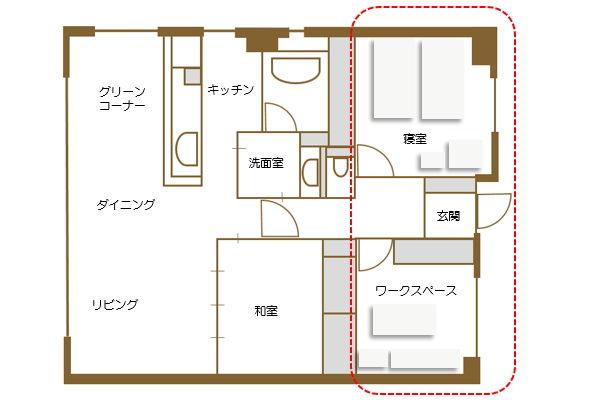 2015レイアウト_寝室・ワークスペース