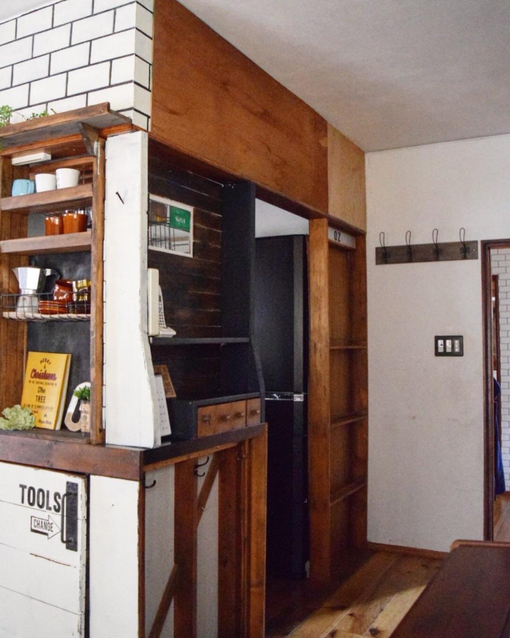 ニトリの壁紙 インテリアペーパー をキッチン垂れ壁に貼ってみた