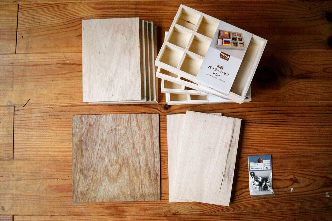 ☆【セリア】100均の木箱でアクセサリー収納ケースを作ったよ
