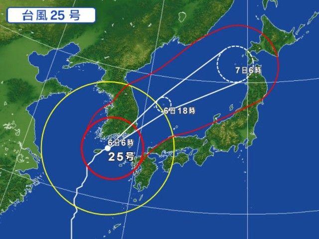 【悲報】台風25号さん、ノーコンすぎるwwww