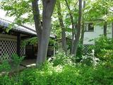松本民芸館の前庭