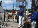 船内での2つ目のイベントは、ロープの結び方講習