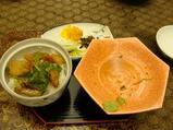 平戸海上ホテルの夕食 最後は鯛茶漬け