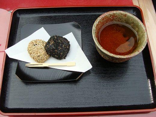 比叡山 茶店にて