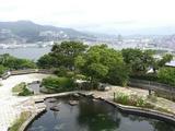 グラバー園の最上部から長崎港が一望できる