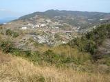 出津文化村を文学館から眺める
