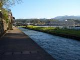 日田の旅館街から川へ降りてみた