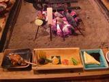 高森田楽の里の「田楽定食」 囲炉裏を囲むのが良い