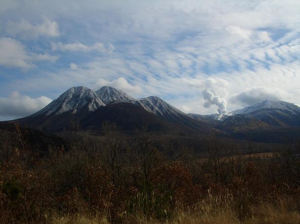 長者の茶屋場からのくじゅう連山の眺め