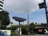 日比谷通りからタワーが見える