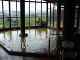 大浴場「紅殻之湯」は茶褐色のお湯