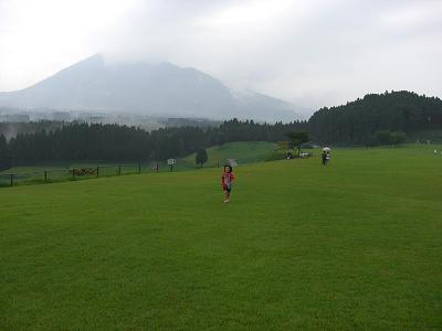 根子岳は雨でぼやっとしか見えず残念でした