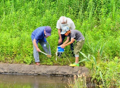 水質検査2 水汲み