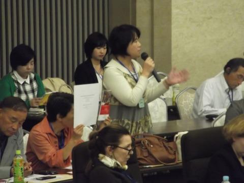 森松明希子さん@世界核被害者フォーラム