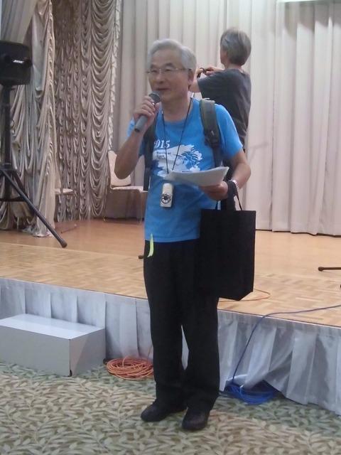 白井春樹さん@2015戦争展