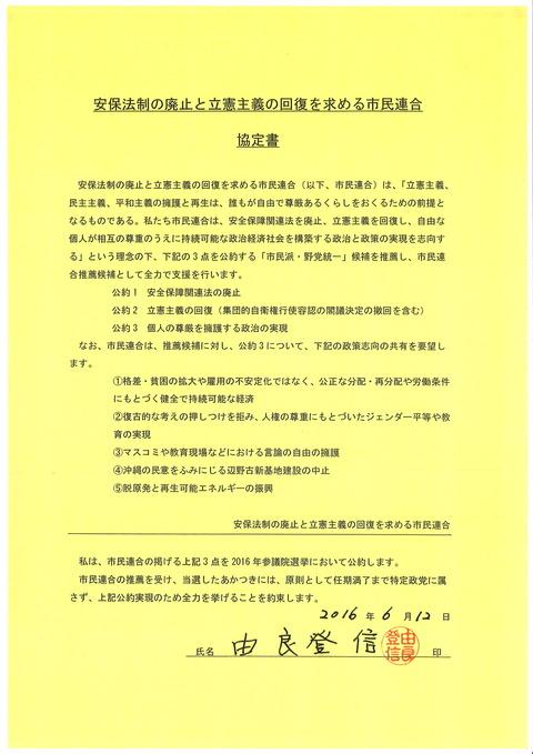 市民連合協定書