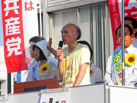 ゆら応援演説JR和歌山駅前