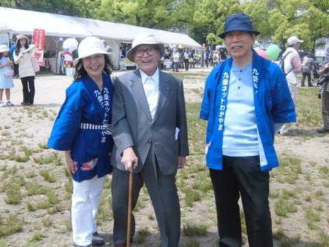 月山桂先生(2014年5月3日)Happy Birthday 憲法 in Wakayama