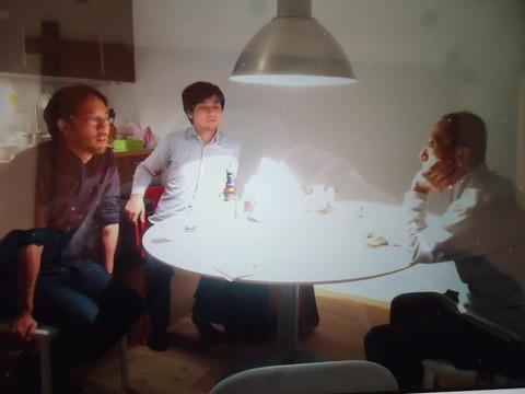 ベルリンの息子宅で梶村良太郎氏と