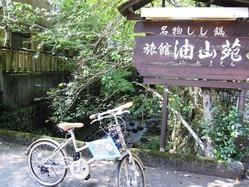 自転車で行きました
