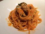 牡蠣のトマトクリームパスタ