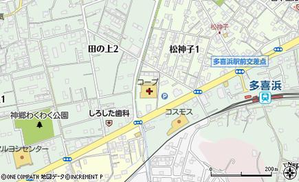 コープ神郷地図