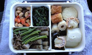 シーフードと豆と野菜のお弁当