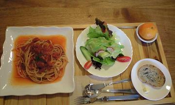 長野県大町のフォレストのトマトスパゲティ