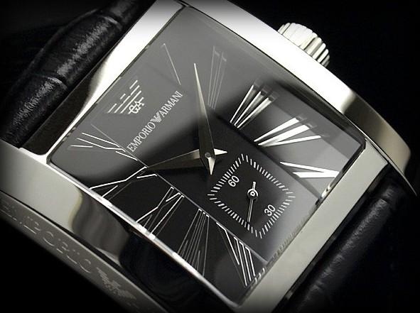 brand new 6a48f 8c4f8 エンポリオ アルマーニ メンズ腕時計ブラックダイアル ...
