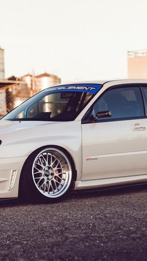 Subaru Impreza Wr Sti Cars Style White 白い車