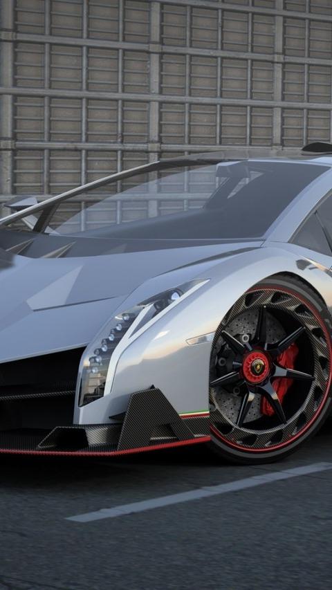 Lamborghini Veneno Side View Supercar 自動車