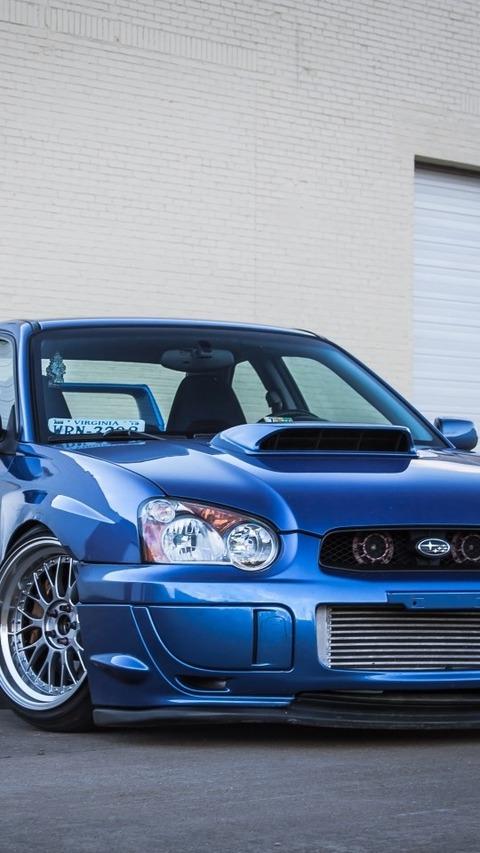 青い車 Subaru Impreza Wr Sti Blue Blue Garage