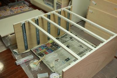 DIY 壁面収納への道 塗装~完成編(引出し大)