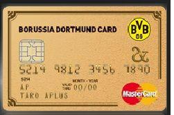 borussia dortmund card gold