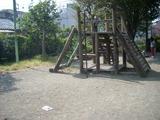 柿の木通り公園雨水がたまる場所