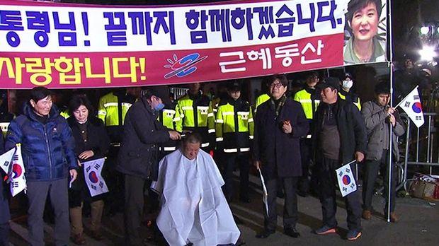 韓国人「逮捕直後の朴槿恵自宅前の状況wwwwwwww」