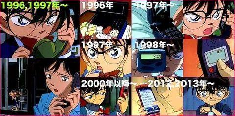 名探偵コナンの電話の進化がスゴイwwwwww