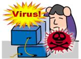 PCウイルスのイラスト