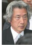 参拝した小泉総理顔写真