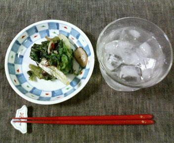 27日夕ご飯しめじとエリンギのレタス炒め