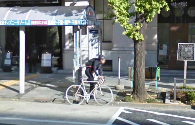 ストリートビューで見つけたロード乗り