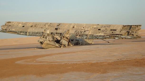 放置された航空機