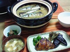 おうちごはん:秋刀魚ごはん、鶏の照り焼き