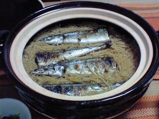 秋刀魚ごはん 土鍋