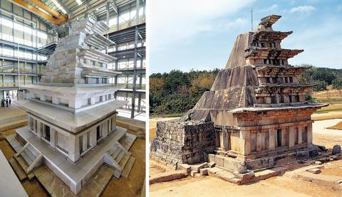 【韓国】日本が覆ったコンクリートはがしに20年、弥勒寺址石塔の修理完了